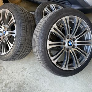BMW M3 M Power 18 Rims With Tire for Sale in Rancho Cucamonga, CA