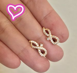 18K Gold Filled Diamond Simulant Infinity Earrings for Sale in San Ramon, CA