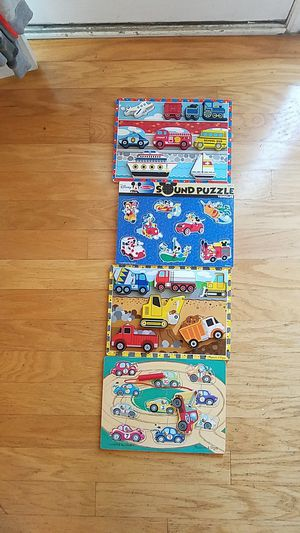 Melissa & Doug vehicle puzzles for Sale in East Point, GA