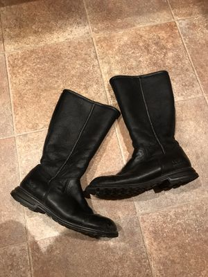 UGG Leather Black Boots Size 10 for Sale in Lynnwood, WA