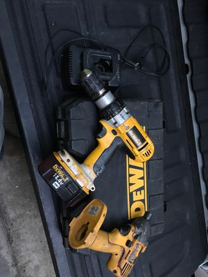 Dewalt drill and impact with one battery and charger for Sale in Hockley, TX