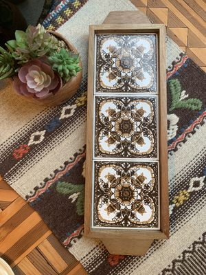 Vintage Wood and Tile Trivet or Wall Decor for Sale in Issaquah, WA