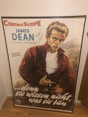 James Dean framed poster from Germany for Sale in Etiwanda, CA
