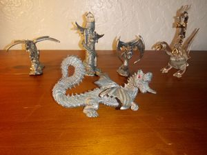 Small vintage dragon pewter set of 5 for Sale in Citrus Heights, CA