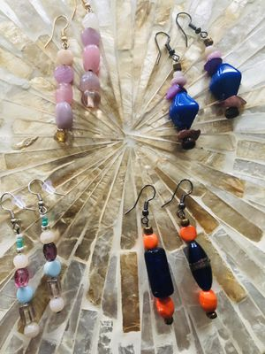 Beaded earrings. Four pairs. Boho. Colorful. Tasteful. for Sale in Raleigh, NC