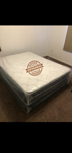 FULL MATTRESS BED PILLOW TOP BRAND NEW WITH BOX SPRING SET 🎖️🎖️ALL SIZES AVAILABLE KING QUEEN FULL TWIN 🎖️COLCHONES CAMAS NUEVOS for Sale in SUNNY ISL BCH,  FL