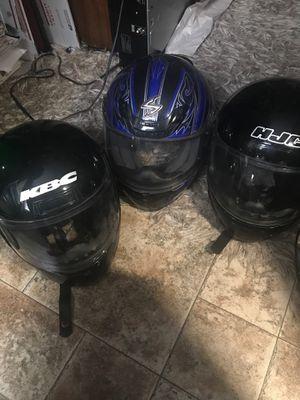 3 motorcycle dirt bike 4 wheeler helmets for Sale in Raleigh, NC