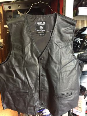 New hustler leather motorcycle vest $80 for Sale in Norwalk, CA