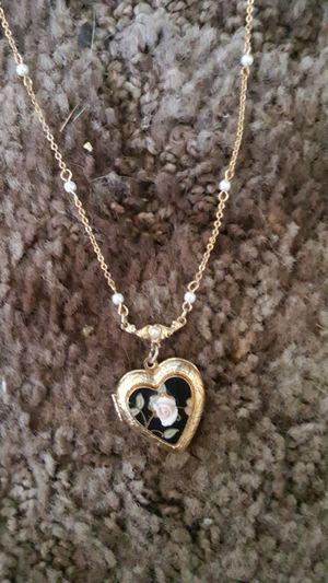 14 karat gold plated heart locket for Sale in Hesperia, CA