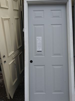 Entry door-steel insulated 32x80 6 pannel for Sale in Washington, DC