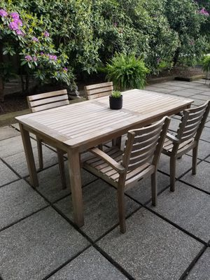 Outdoor Solid Teak Dining Set for Sale in Rocky River, OH