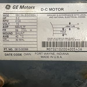 GE 5.0 HP 72 Volt DC Motor for Sale in Huntington Beach, CA