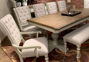 NEW🍀16. Bardot Antique WhiteBrown Dining Table for Sale in Jessup, MD