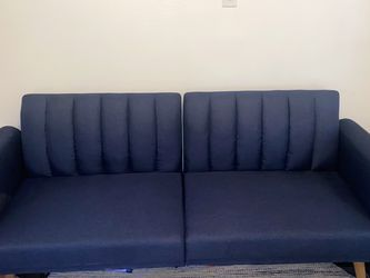 Blue Love Seat/Recline Futon for Sale in Austin,  TX
