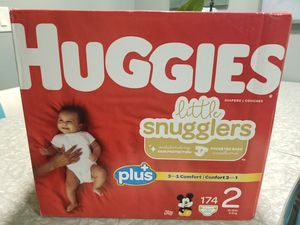 Huggies Size 2 Little Snugglers Diapers - 174 ct for Sale in Livermore, CA