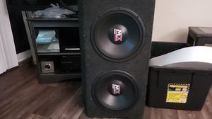"""2 12"""" mtx 1200w speakers in box for Sale in Portland, OR"""