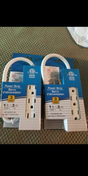 Set of 2. 1 foot-3 outlet power cord. New on box. No lowball offers please. for Sale in Chandler, AZ