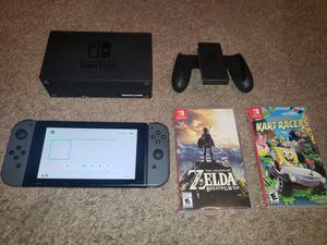 Nintendo switch with 2 games for Sale in Carrollton, TX