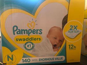 Box of diapers newborn never been opened for Sale in West Covina, CA