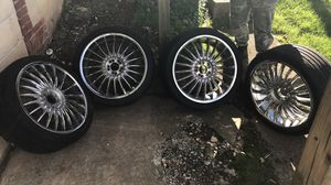 "20"" chrome rims w/ tires for Sale in York, PA"