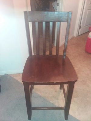 6 mahogany bar stools $10 each or 5 for a 6 for Sale in Las Vegas, NV
