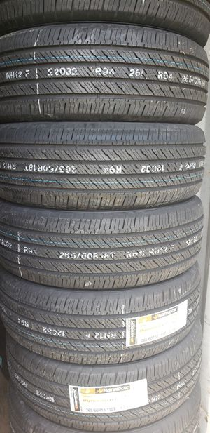 265/60/18 NEW HANKOOK TIRES FOR 600 DOLLARS WITH EVERYTHING INCLUDED TAX INCLUDED FINANCING AVAILABLE NO CREDIT CHECK, 90 DAYS SAME AS CASH for Sale in Houston, TX
