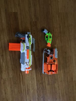 Nerf guns double strike,moudlus and flip fury for Sale in Sherwood, OR