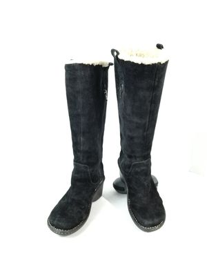 UGG Tall Hartley Women's Size 8 Black Suede Wedge Heel Winter Boots :M for Sale in Denver, CO