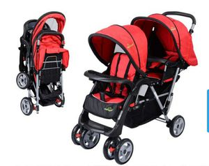 Foldable Twin Baby Double Stroller Kids Jogger Travel Infant Pushchair Red for Sale in Chino Hills, CA