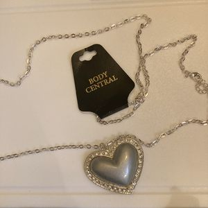 Body Central Silver Sparkle long Necklace. NEW for Sale in Gaston, SC