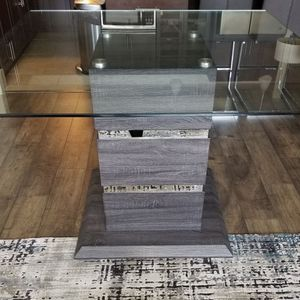 Beautiful Big Breakfast table. 54in x 54in. Removable glass top. Table Is Bar Hight for Sale in Austin, TX