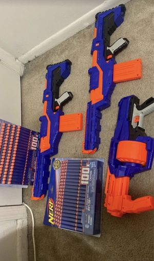 Nerf Gun Set ( Comes with Bullets ) 200x for Sale in Upper Marlboro, MD