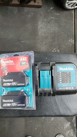Makits 5.0 batteries and charger for Sale in Vancouver, WA