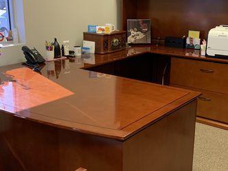 U-Desk Set with Bookshelf and Storage for Sale in Costa Mesa,  CA