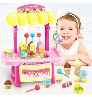 Pretend Food Ice Cream Cart Toy , 34 Pieces for Sale in Chicago, IL