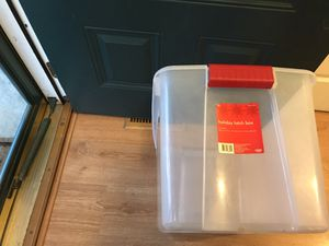 Holiday storage bin for Sale in MONTGOMRY VLG, MD