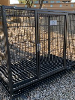 Brandnew In sealed HD Sleek Kennel Crate Cage with plastic tray, wheels and soft Rubber Mat 🐾 🐶 please see dimensions in second picture 🐶 for Sale in Phoenix,  AZ