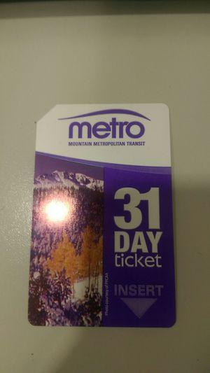 Mountain metro 31day bus pass. for Sale in Colorado Springs, CO