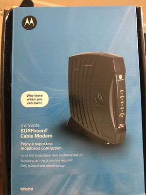 Motorola SURFboard cable modem for Sale in MONTGOMRY VLG, MD