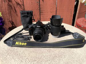 Cleaned and serviced Nikon D40 DSLR Camera with two Lenses for Sale in Sunnyvale, CA