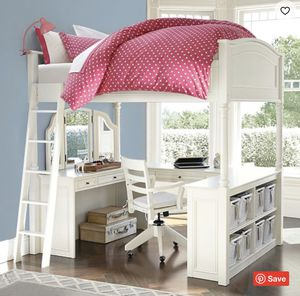 Pottery Barn bunk bed with desk for Sale in McDonough, GA