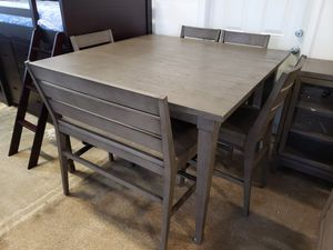 New living spaces Casey 6pc counter height dining table set tax included for Sale in Hayward, CA