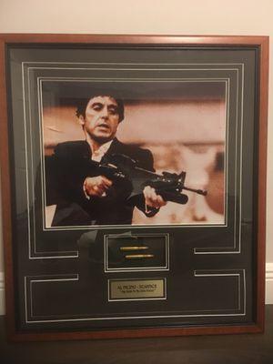 Scarface Memorabilia Frame With Gun Money Drugs For Sale In Miami