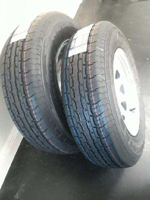 Heavy duty 8ply st205/75r15 trailer tires or wheels for Sale in Fort Pierce, FL