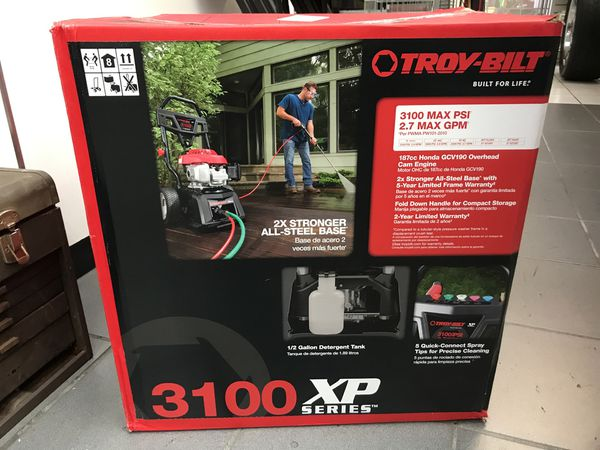 Troy Bilt 3100 PSI 2.7 GPM pressure washer New in box