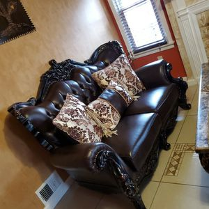 Letter sofa Sat Whit Table Its New Not Use for Sale in Dearborn, MI