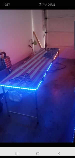 Light up beerpong table for Sale in Livermore, CA