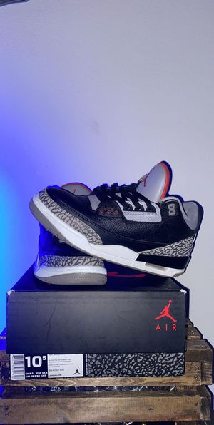 Black cement 3s for Sale in St. Cloud, FL