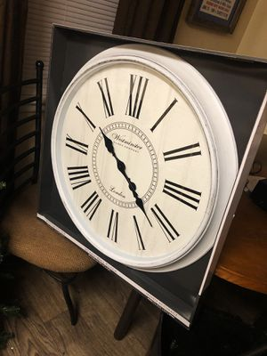 BRAND NEW Large FARMHOUSE Westminster Clock White Rustic for Sale in Nashville, TN