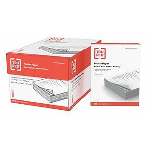 Tru red staples copy paper printer paper 8 ream 97 bright for Sale in Pomona, CA